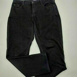 NYDJ 14 black legging jeans skinny inseam 29